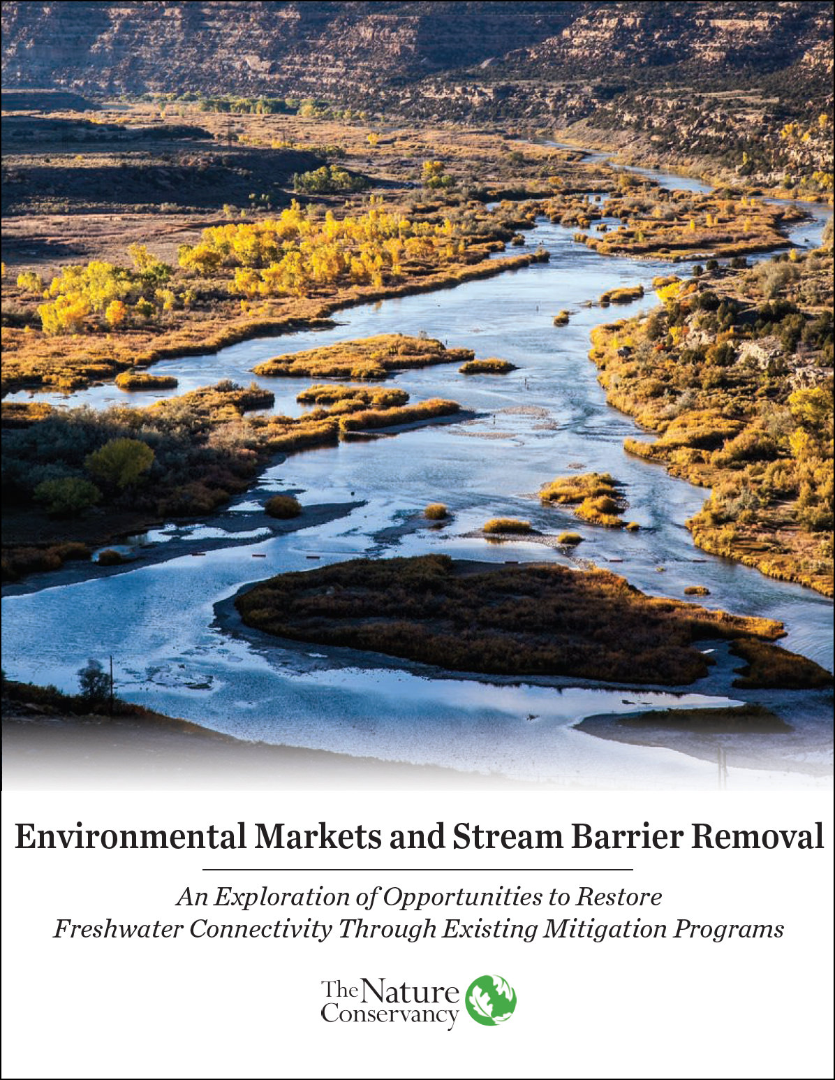 Environmental Markets and Stream Barrier Removal Report - An exploration of opportunities to restore freshwater connectivity through existing mitigation programs