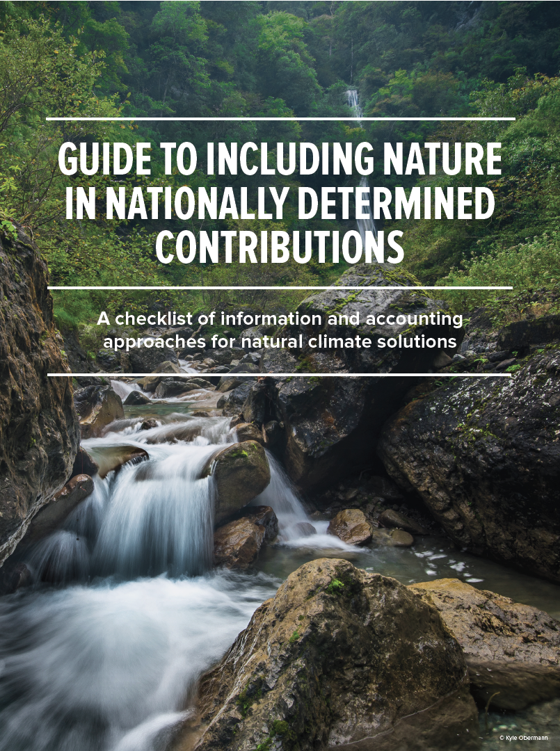 A checklist of information and accounting approaches for natural climate solutions